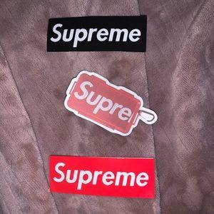Supreme brand skate stickers 3 pack